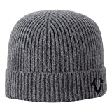 True Religion Men's Ribbed Knit Watchcap, Factory Grey, One Size