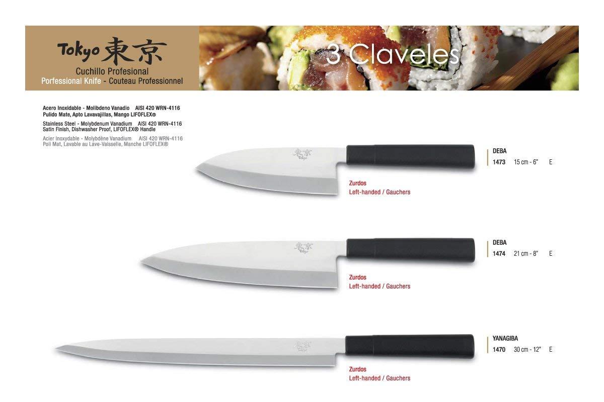 3 Claveles Cuchillo Tokyo DEBA 21 cm. D 3C