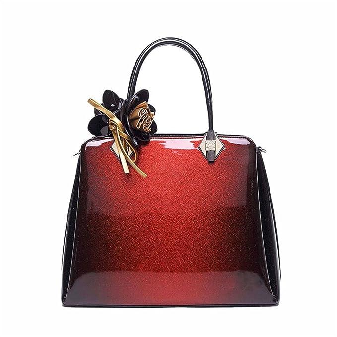 Amazon.com: Tote Hand Shoulder Bag Card Holder Womens Wild Leather Tote Bag Patent Leather Crossbody Commuter Shoulder Handbag Offices Travel Purse ...