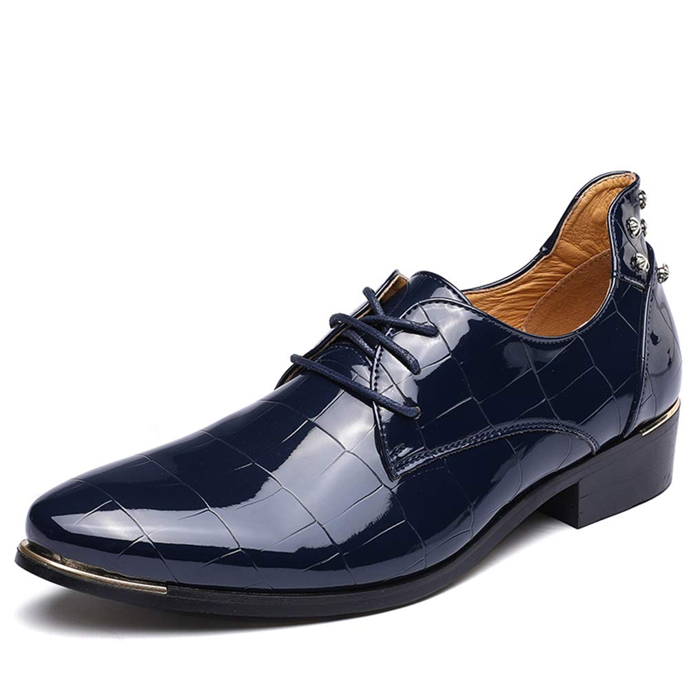 Mens Dress Shoes Pointed Toe Lace Up Fashion Comfortable Oxford Shoes