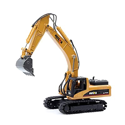 duturpo 1/50 Scale Diecast Crawler Excavator, Metal Construction Vehicle Models Toys for Kids (Crawler Excavator): Toys & Games