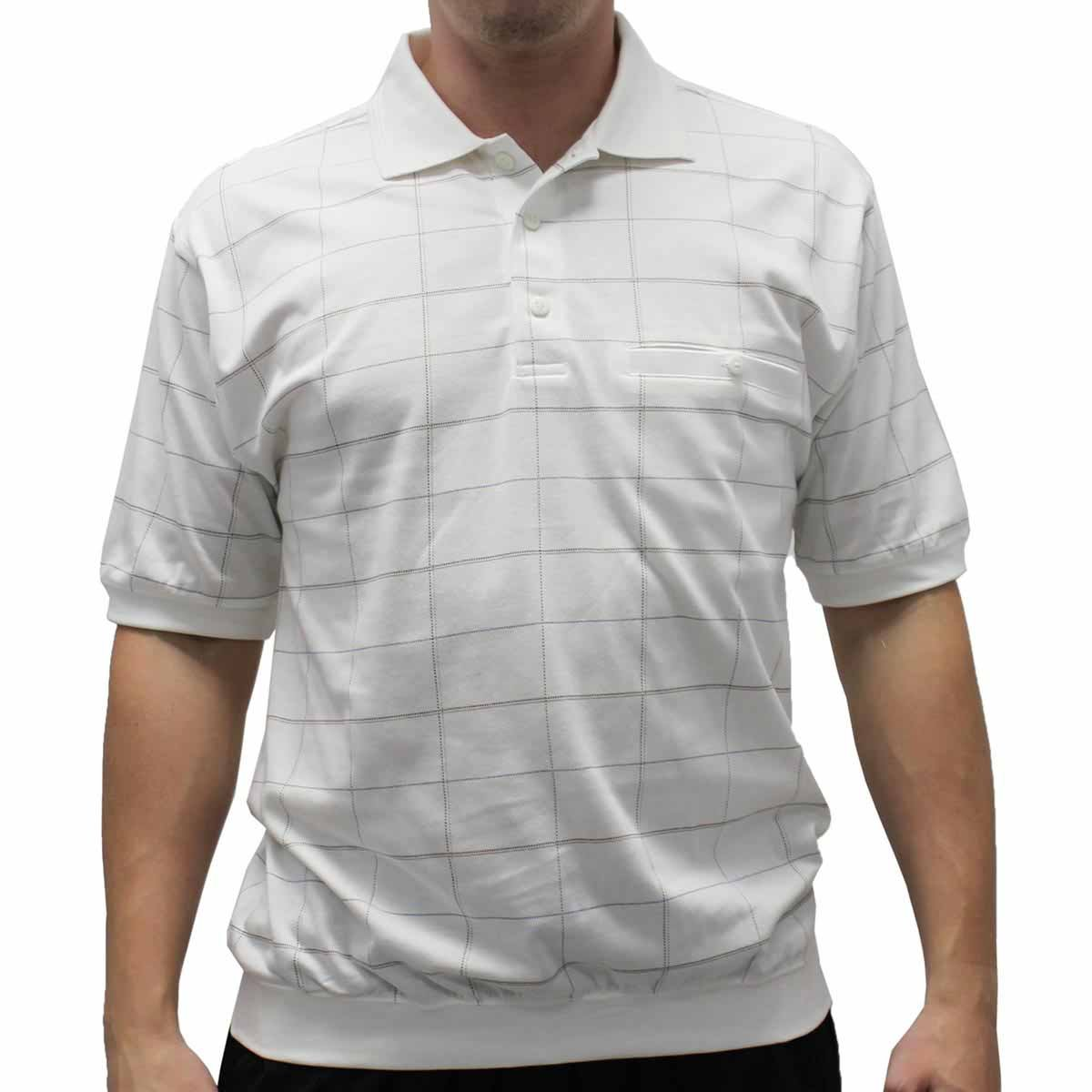 Safe Harbor French Terry Banded Bottom Polo Shirt At Amazon Mens