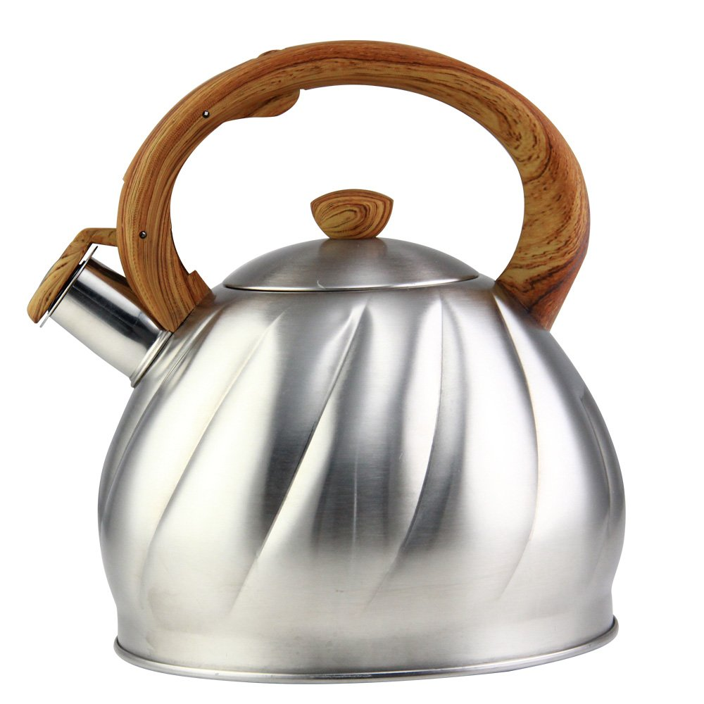Riwendell Tea Kettle 3.2 Quart Whistling Stainless Steel Stove Top Teapot (GS-04044AHY-3.0 L)