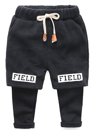 KINDER365 - Pantalones de chándal para niños (Forro Polar): Amazon ...