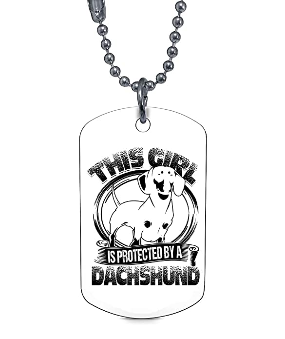 Amazon Com Lasneck Awesome Dachshund Necklaces Cool Dogs Dog Tag