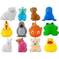 Urbanese Chu-Chu Bath Toys (Multicolour) - Set of 12 Animals