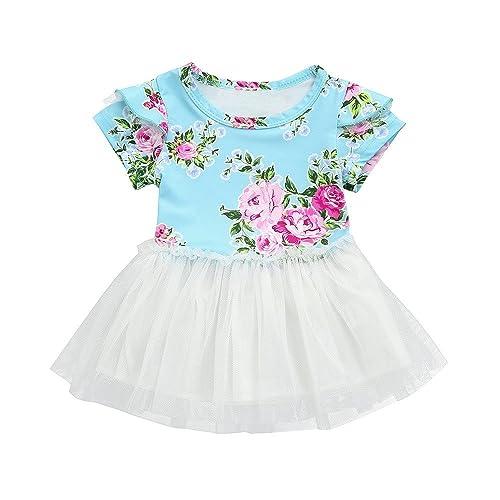 3cc5e52a1048 Amazon.com  Goodtrade8® Sister Newborn Toddler Baby Girl Floral ...