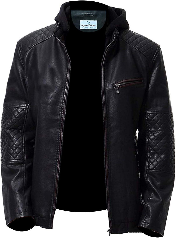 Empirical Selection Leather Jackets Men Men/'s Leather Jacket
