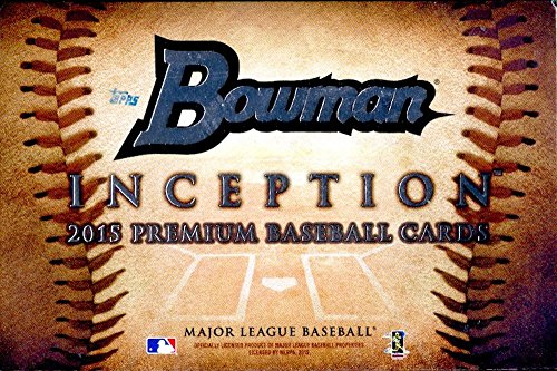 2015 Bowman Inception Baseball Cards Hobby Box (1 pack box / 5 cards packwith 4 Autographs - Release Date 7/8)