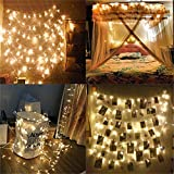 YULIANG 66 feet 200leds Wedding LED Fairy Lights, LED String Lights Outdoor/Indoor 8 Modes LED Bulbs Lights for Garden, Bedroom, Patio, Home Decoration Lighting (Warm White)