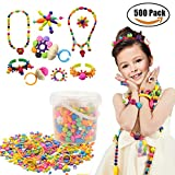 500 Pcs Arty Snap Pop Beads Set with Storage Box, XFee Creative DIY Jewelry Kit for Headwear Necklace Earrings Bracelets Rings , Idea Birthday & Christmas Gifts Toys for Kids Toddlers Girls