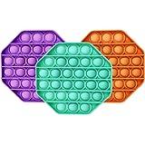 3PCS Leencum Push pop pop Bubble Sensory Fidget Toy,Squeeze Sensory Toy ,Silicone Stress Reliever Toy,Autism Special Needs St