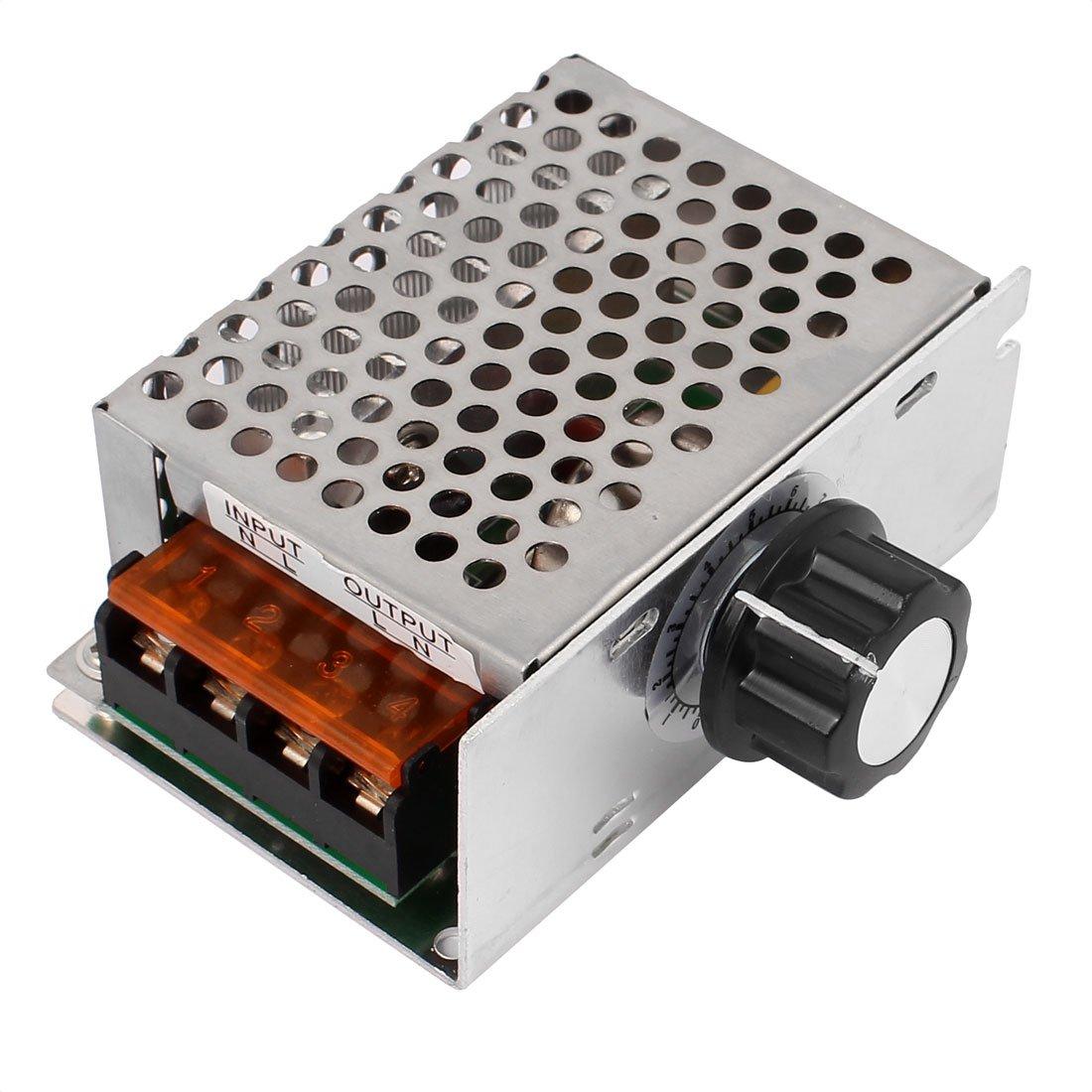 regulador de Voltaje de CA de 4000 W Regulador de Voltaje de 220 V Controlador de Temperatura de Velocidad del Motor el/éctrico BTIHCEUOT Controlador de Velocidad del Motor