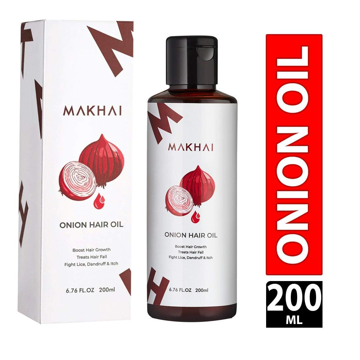 Makhai Onion Hair Oil for Hair Growth 200ml