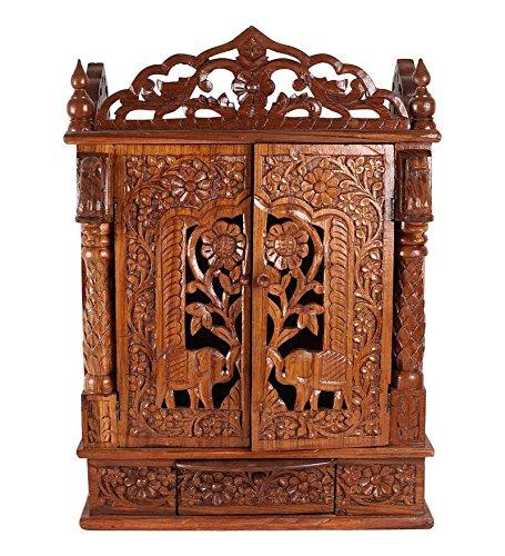 Large (21u0026quot; X 12u0026quot; X 34u0026quot;) Door Puja Mandir or Door  sc 1 st  Amazon UK & Large (21