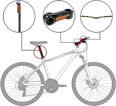 Lixada Manillar de Bicicleta de Monta/ña Manillar de MTB Manillar de Ciclismo Barra de Elevaci/ón de Bicicleta