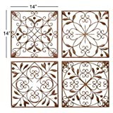 Deco 79 50035 Metal Wall Decor Set of 4 (pack of 2)
