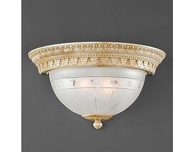 La lampada romana applique lampada da parete classica in ottone e