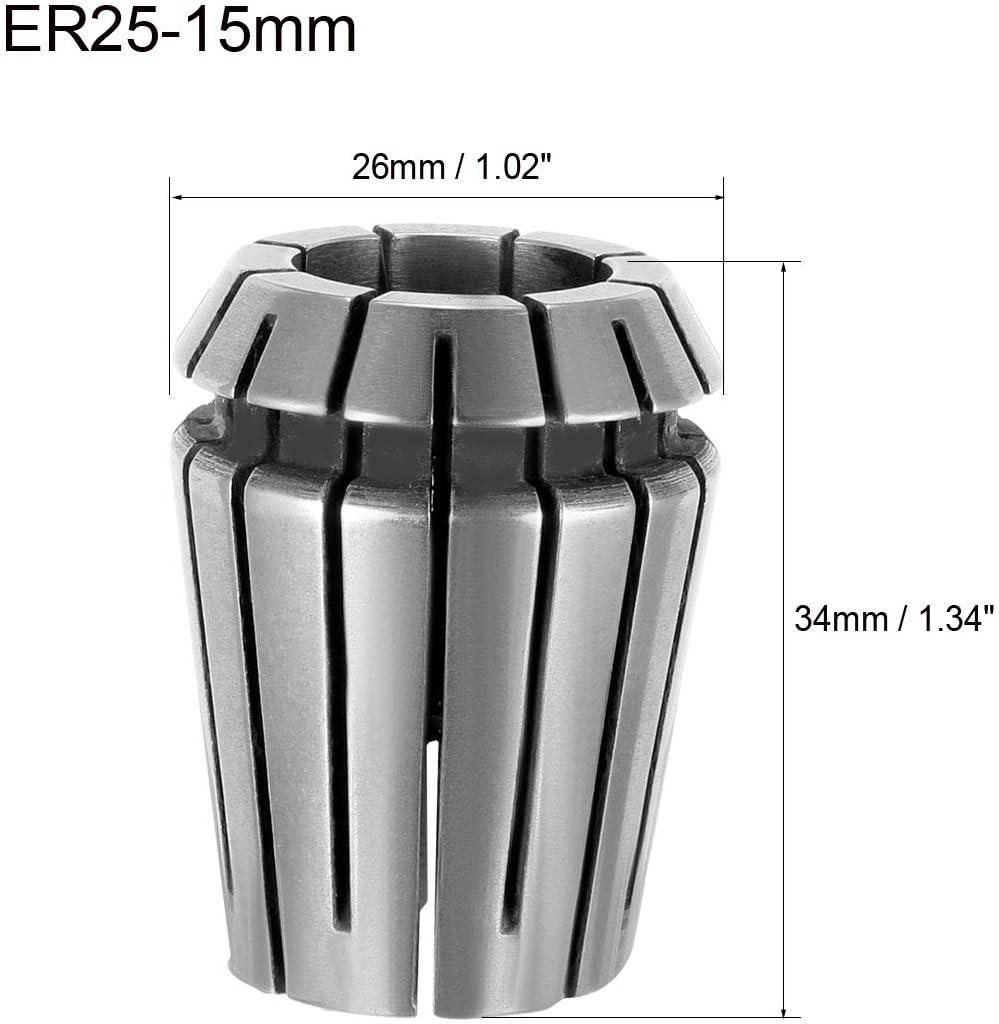 Portabrocas de resorte para m/áquina de grabado CNC Lathe Fresing Tool Sourcing Map ER25