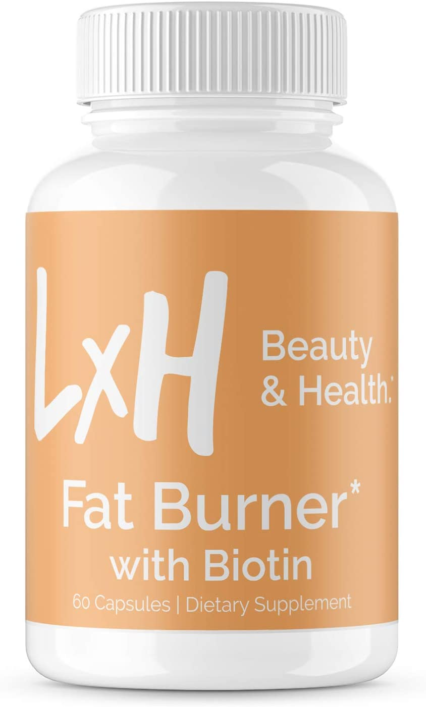 LxH Biotin Fat Burner - Weight Loss Metabolism Booster Appetite Suppressant - Detox & Cleanse with Apple Cider Vinegar, Green Tea Extract - Belly Fat Burner for Women, 60 Vegetarian Weight Loss Pills
