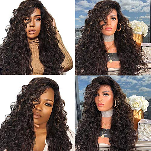 FORUU Wigs, 2019 Valentine's Day Surprise Best Gift For Girlfriend Lover Wife Party Under 5 Free delivery Girl Gradient Natural Brown Party Wig Long Full Curly Hair Fashion Synthetic Wig ()