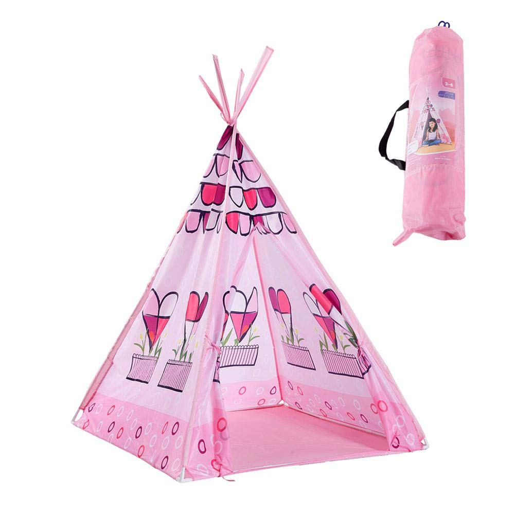 Indian Style Children's Tent-Baby Play House Game Rome Marine Ball Pool Tent,Dream Heart Cartoon Bed Net Tent,Easy to Install