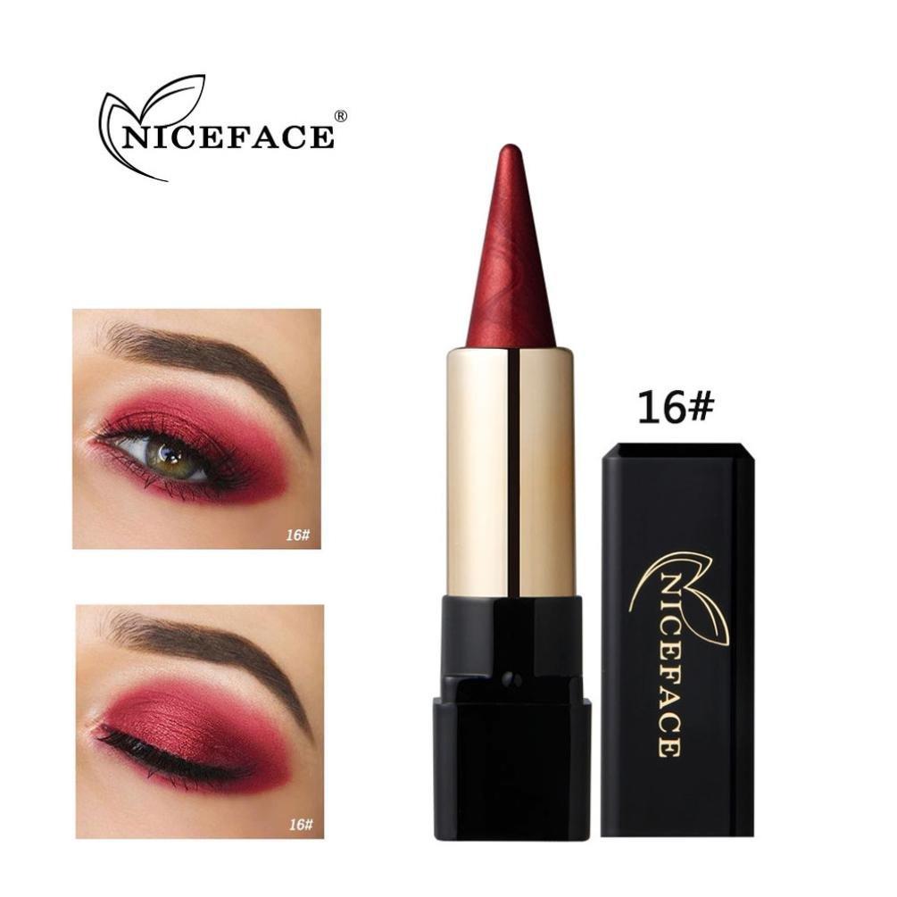 Eyeshadow Stick, VNEIRW Matt+Shimmer Waterproof Nude Cosmetic Beauty Makeup Eye Shadow Stick Pen (L)
