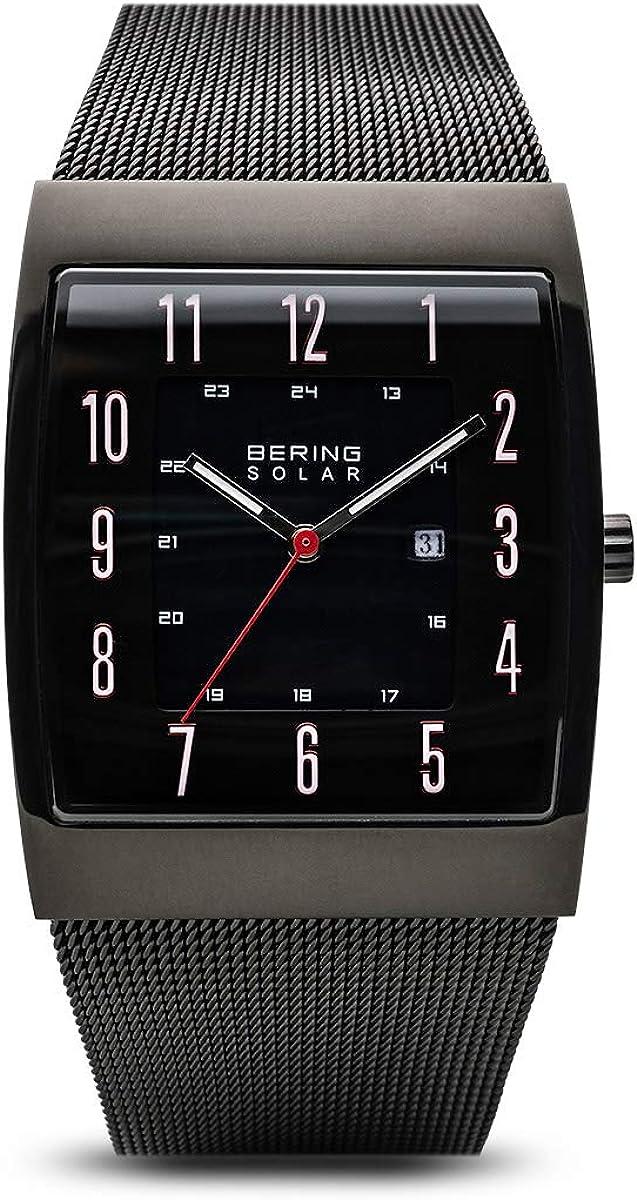 BERING Reloj Analógico para Hombre de Energía Solar con Correa en Acero Inoxidable 16433-122