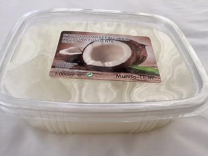 Mundo-TEM® Parafina de Coco, 2 Tarrinas de 1000 ML.