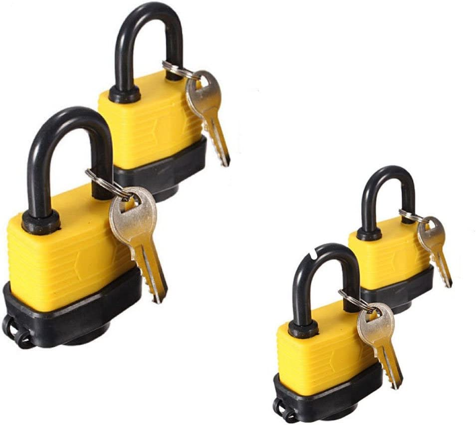 WINOMO puerta laminado impermeable candado Pad Lock mismo llave para puerta 40/mm 4pcs