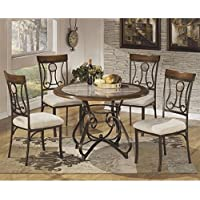 Ashley Hopstand 5 Piece Round Dining Set in Brown