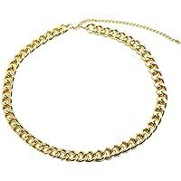 TENDYCOCO Cadena de la Cintura de Las Mujeres de Moda Cinturón de Metal Simple Cadena del Cuerpo Cadena del Vientre (Dorado)