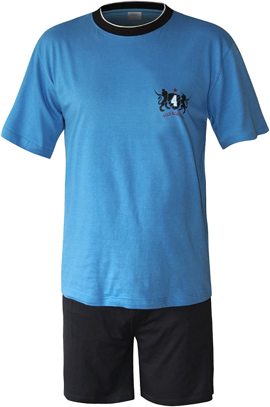 Moonline nightwear Herren Schlafanzug kurz in verschiedenen Ausf/ührungen Herren Pyjama kurz Herren Shorty Schlafanzug aus 100/% Baumwolle