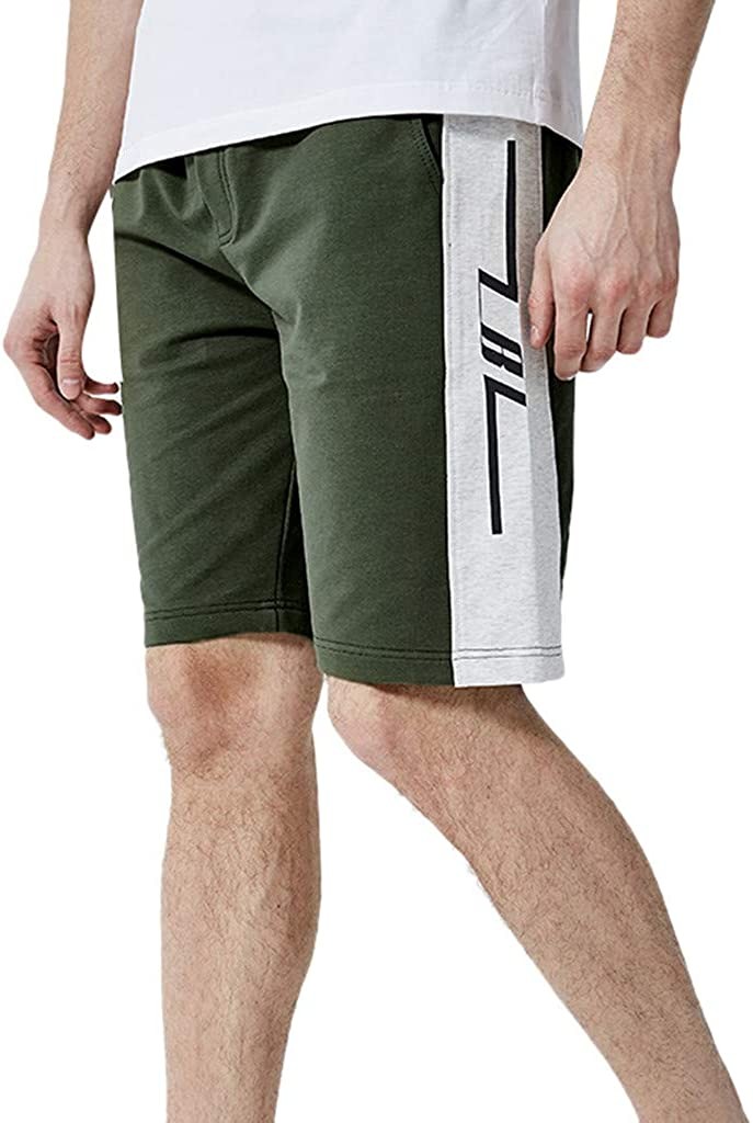 MODOQO Shorts Pant for Men Summer Casual Loose Fit Flat Front Sweatpants Jogger Outdoor Running Cycling