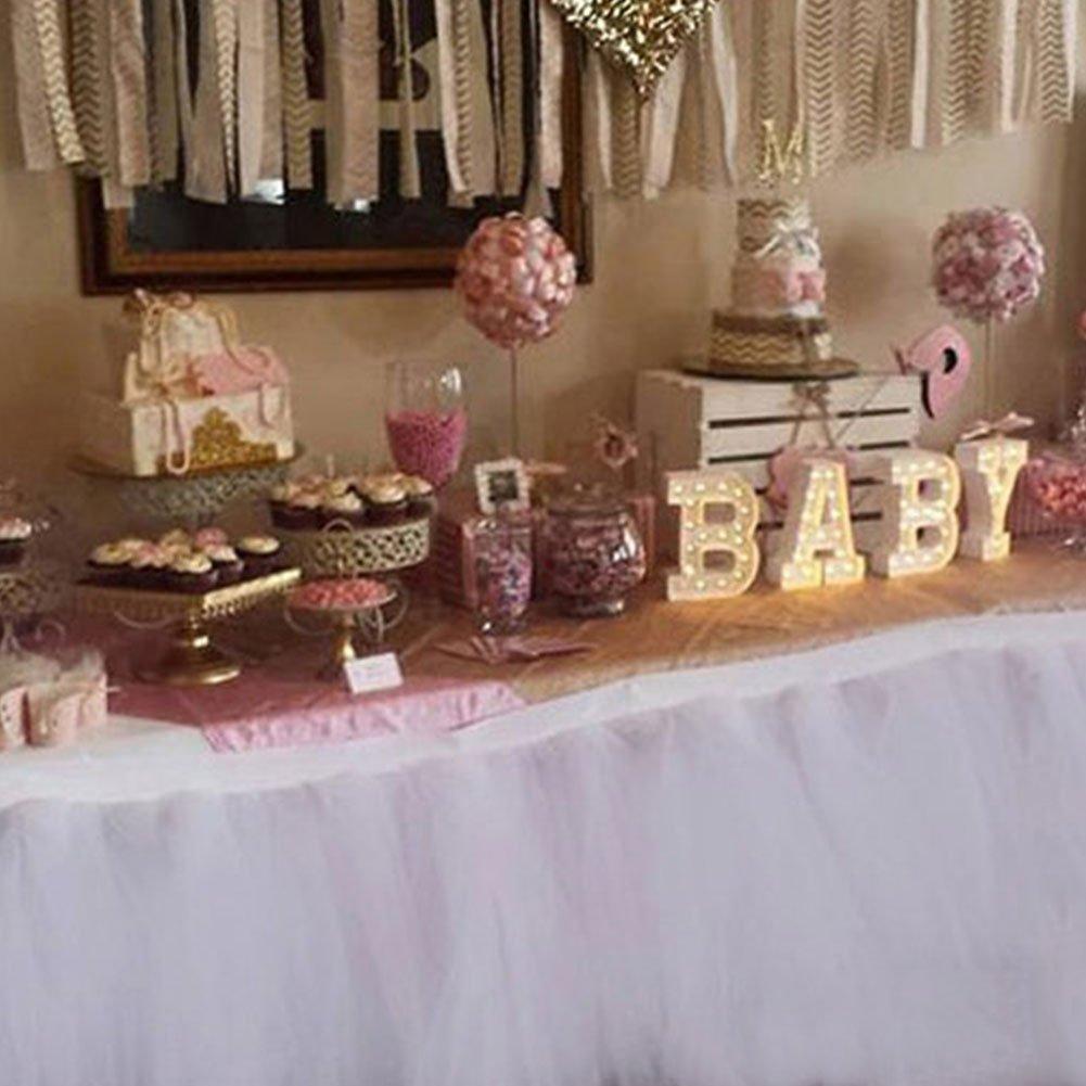 Kicode DIY Tablecloth Yarn Tulle Table Skirt Wedding Birthday Baby Shower Party Desk Decor