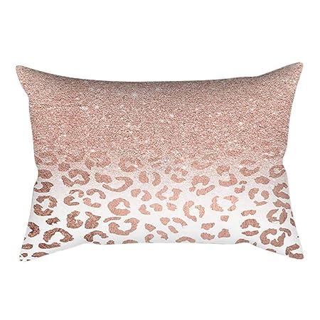 VJGOAL impresión de Moda Rosa-Oro Rosa Cojín Suave Funda de ...