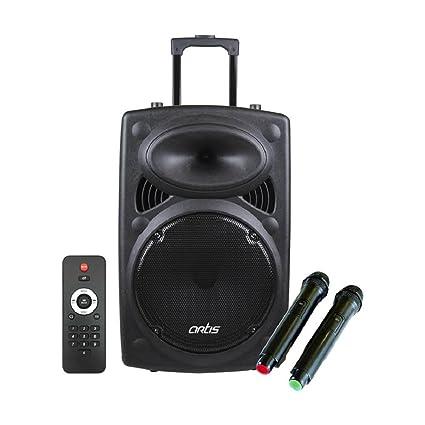 Artis Bt912 Bluetooth Speaker Trolley With Usb Fm Tf Card Reader Aux