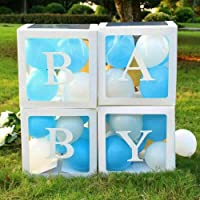 DIY Transparent Balloon Box with Letters Gift Boxes for Baby Shower Birthday Party Decorations Wedding Backdrop (BABY)