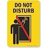 Do Not Disturb Sign 5159WBK imperméable et résistant aux Solvants