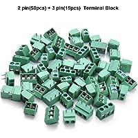 Loscrew 65 piezas 5 mm Pitch 2 Pin/3