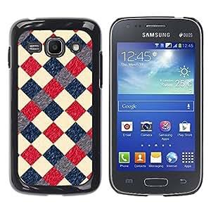 Paccase / SLIM PC / Aliminium Casa Carcasa Funda Case Cover para - Plaid Checkered Pattern Blue Red - Samsung Galaxy Ace 3 GT-S7270 GT-S7275 GT-S7272