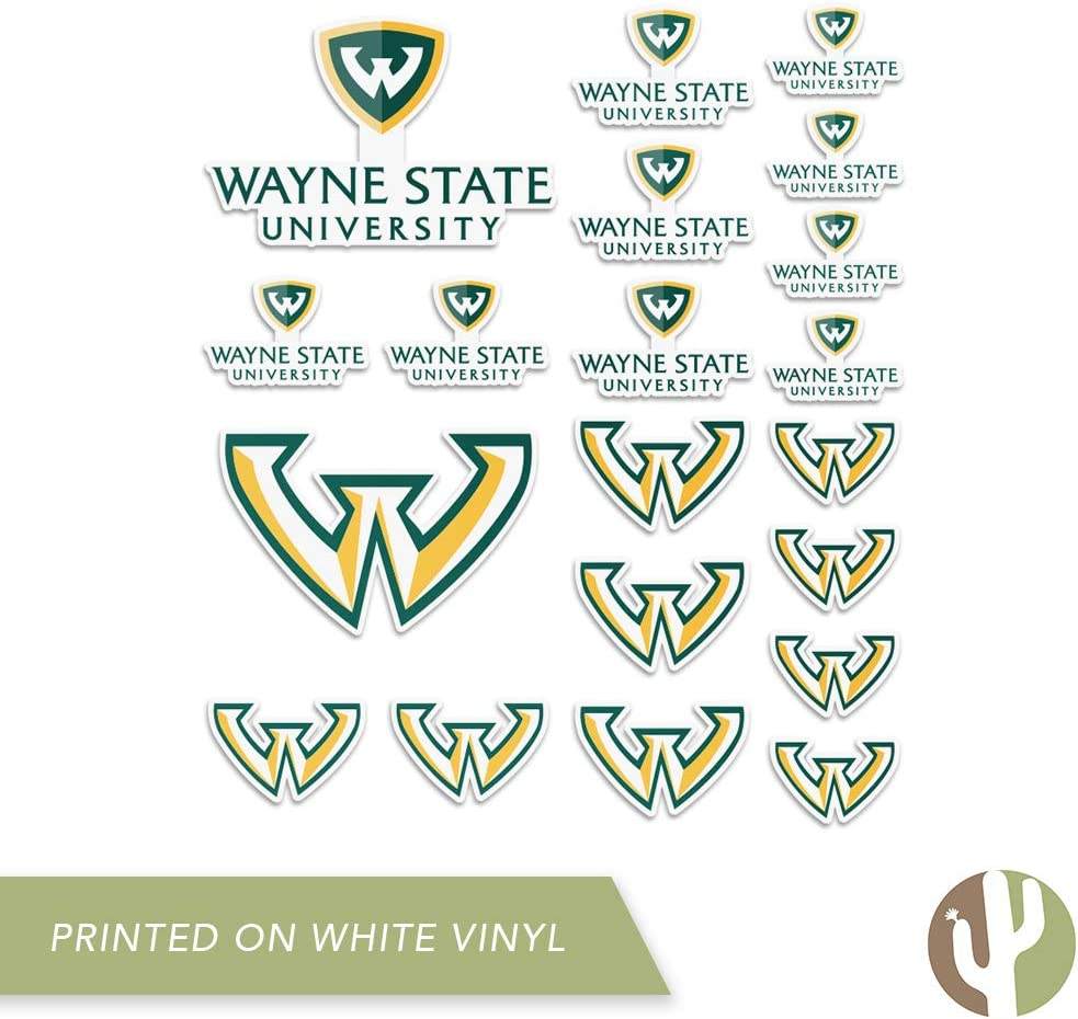 Type 2 Sheet Wayne State University WSU Warriors NCAA Sticker Vinyl Decal Laptop Water Bottle Car Scrapbook