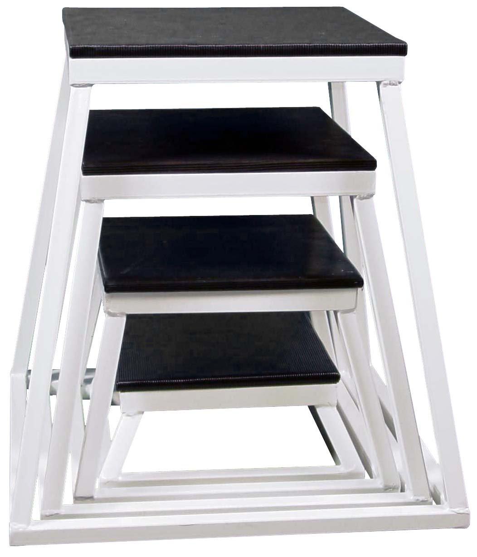 Plyometric Platform Box Set- 6'', 12'', 18'', 24'' White