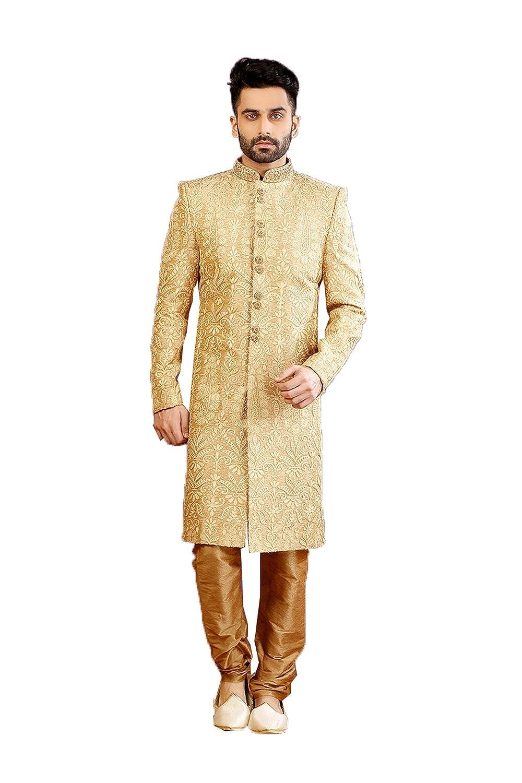 7c3a44f0d0 Amazon.com  daindiashop-USA Indian Designer Wedding Heavy Work Exclusive  Sherwani For Groom  Clothing