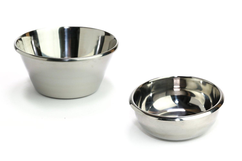 Vonel Shaving Bowl Premium Stainless Steel For Shaving Soaps & Shaving Creams (Small)