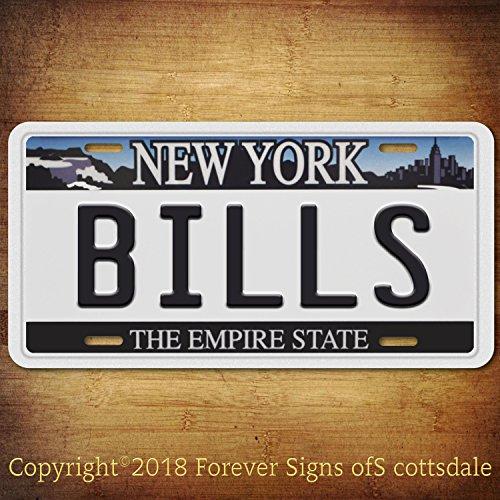Forever Signs Of Scottsdale Buffalo Bills NFL Football Team New York Aluminum Vanity License Plate