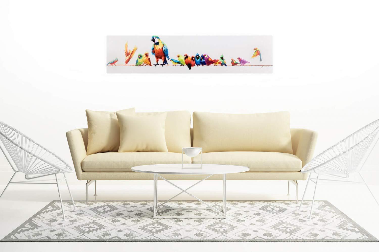 Kunstloft® Cuadro en acrílico Aves del paraíso 150x30cm ...