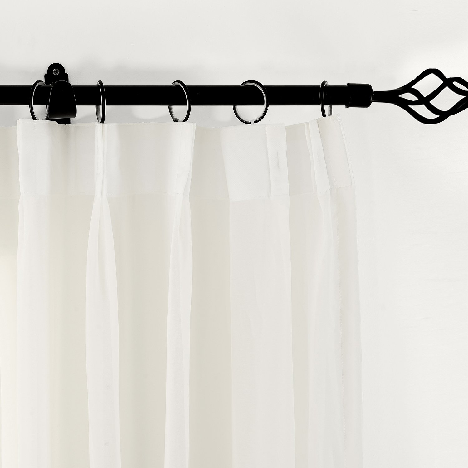 ChadMade Indoor Outdoor Solid Sheer Curtain Pinch Pleat Beige 200 W X 96 L Wide Opulent Voile Drapes 1 Panel