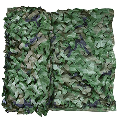 SUMERSHA Camo Netting, 16.4ftx5ft Camouflage Netting Woodland Desert Camo Net Blinds for Camping Military Hunting Shooting Sunscreen Nets Camouflage Party Decoration Themed Restaurant Decor