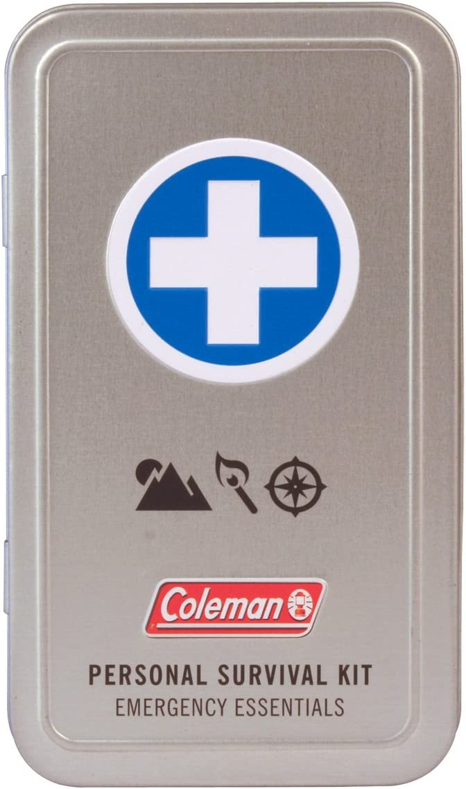 Coleman Personal Survival First Aid Kit 74 Piece, Metal Mini Camping Kit